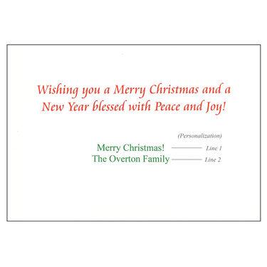 Personalized Lakeside Christmas Christmas Cards