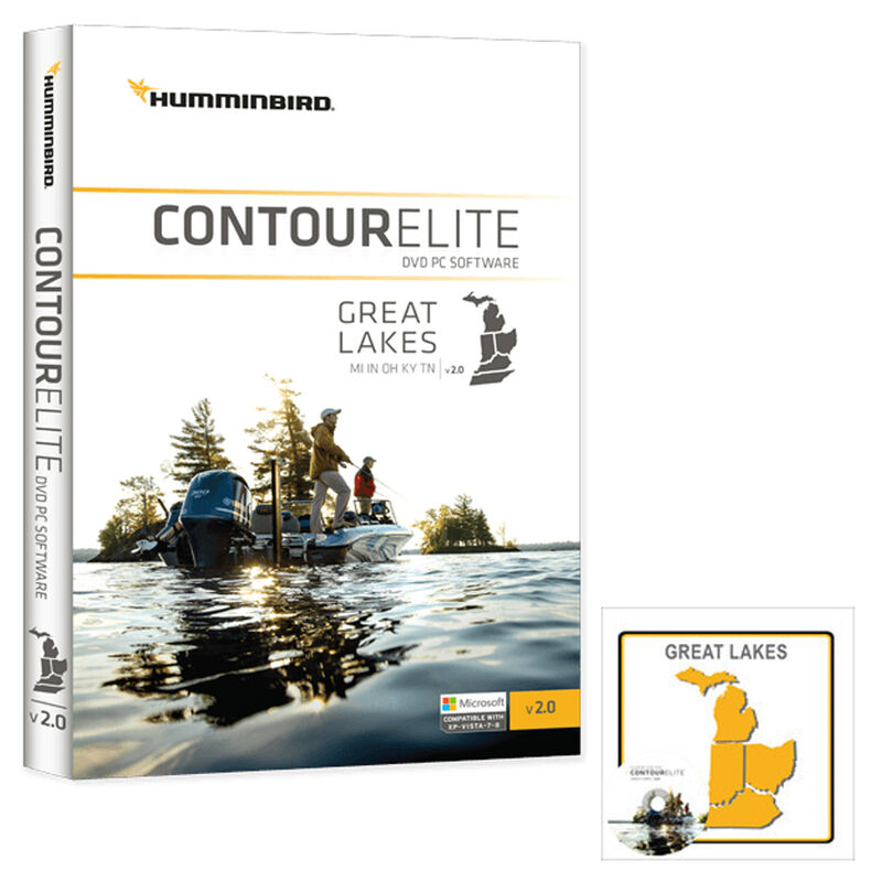 Humminbird Contour Elite Software, Great Lakes image number 1