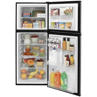 GE 9.8 Cu. Ft. 12V DC Power Top-Freezer Refrigerator, Stainless Steel