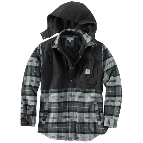 Carhartt Men's Pawnee Plaid Hooded Shirt Jacket