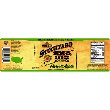 Original Juan American Stockyard Harvest Apple BBQ Sauce 14.5oz