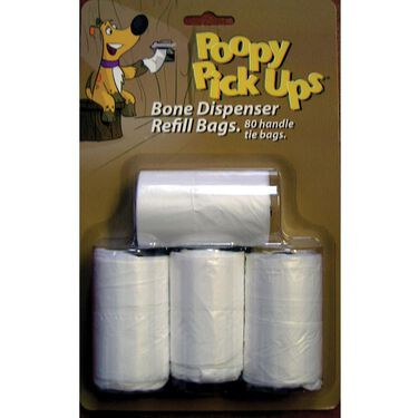 Bone Pet Waste Bag Dispenser Refills, 4-Roll Pack