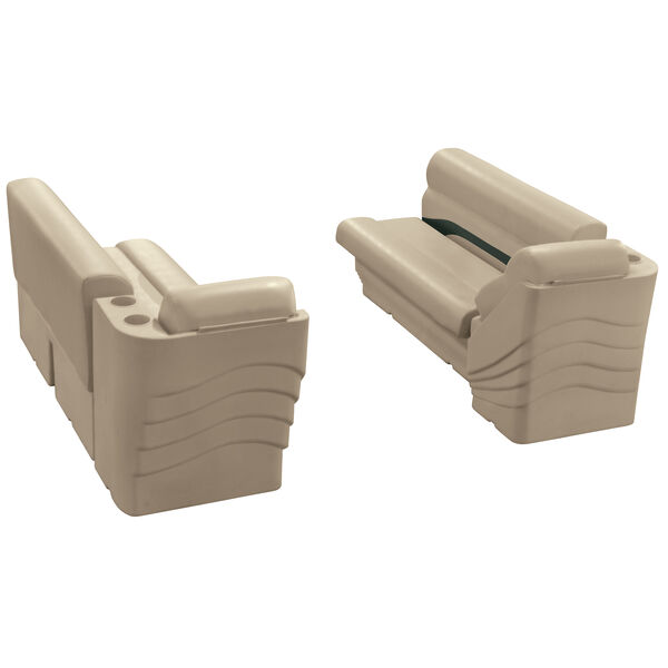 Toonmate Premium Pontoon Furniture Lounge And Lean-Back Package, Mocha