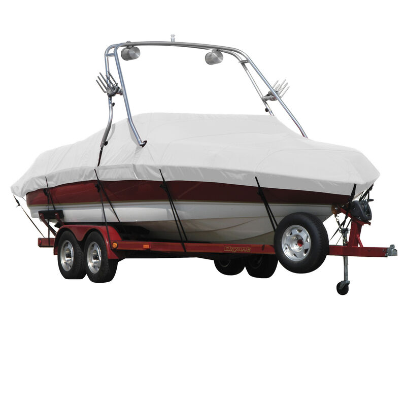 Exact Fit Covermate Sharkskin Boat Cover For SEA RAY 200 SUNDECK w/XTREME TOWER image number 3