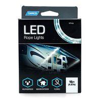 Camco LED Rope Light, White, 16'