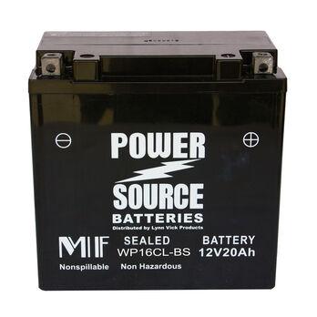 Power Source Sealed Battery, WP16CL-BS, 12V 20Ah