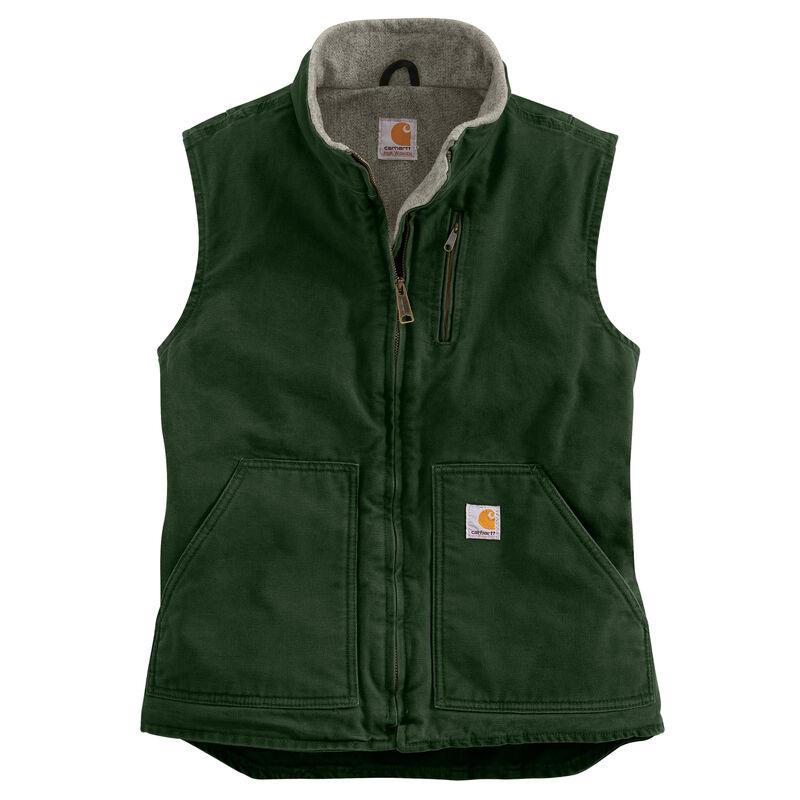 Carhartt Women's Sandstone Sherpa-Lined Mock-Neck Vest image number 8