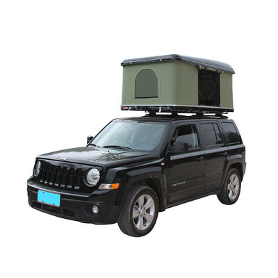 Trustmade Hard Shell Rooftop Tent, Black Shell / Green Tent