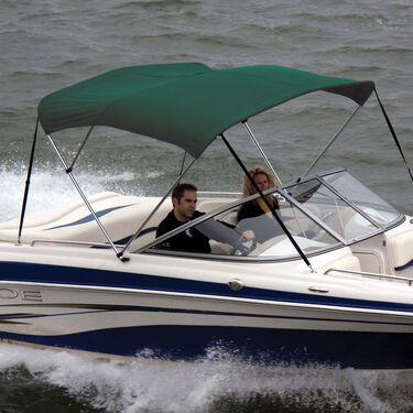 """Bimini Top Polyester Fabric and Boot Only, 3-Bow 6'L, 46""""/54""""H, 67""""-72""""W"""
