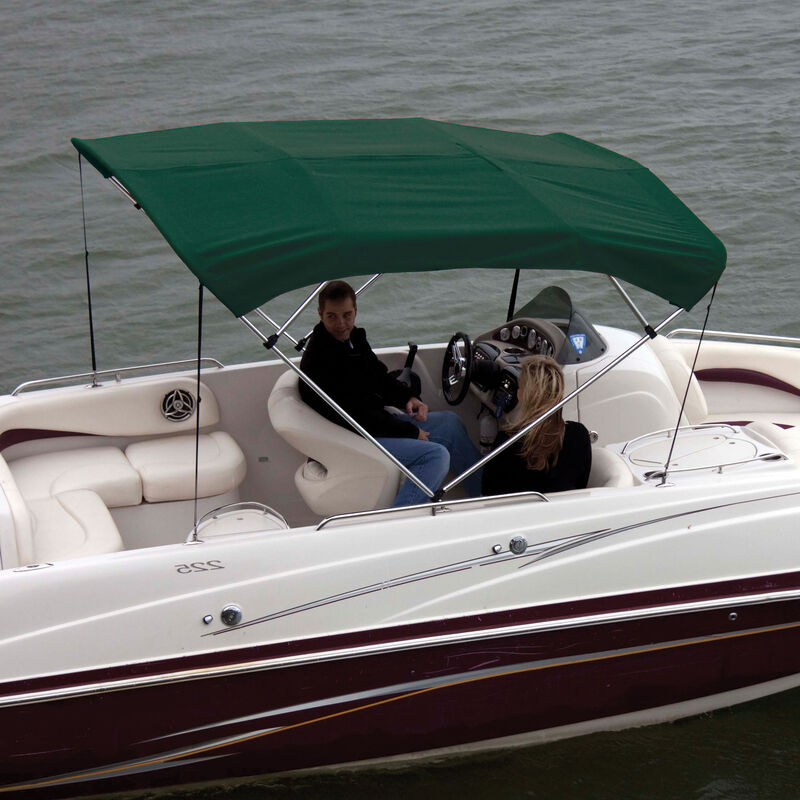 """Shademate Bimini Top Polyester Fabric and Boot Only, 4-Bow 8'L, 42""""H, 85""""-90""""W image number 2"""