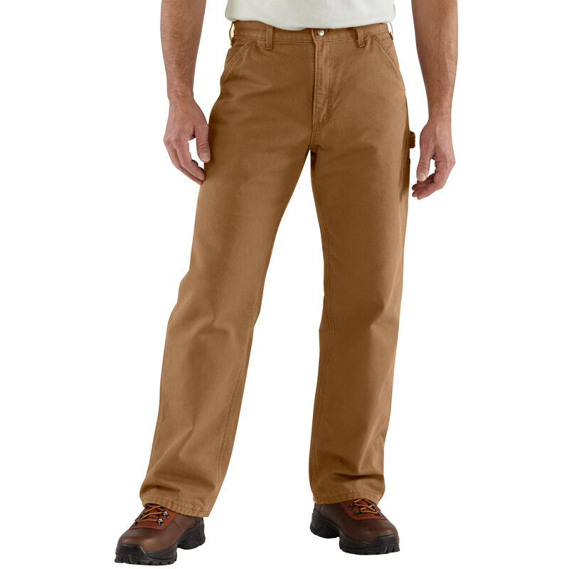 Carhartt Men's Washed Duck Flannel-Lined Dungaree Pant image number 2