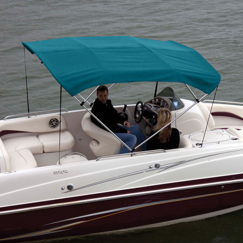 """Shademate Bimini Top Polyester Fabric and Boot Only, 4-Bow 8'L, 42""""H, 61""""-66""""W image number 5"""