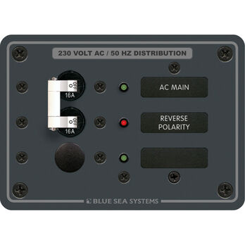 Blue Sea Systems Panel, 230V AC (European), AC Main + 1 Position