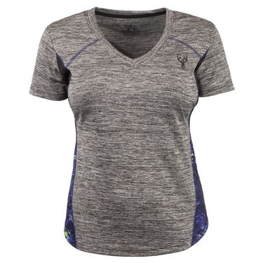 Huntworth Women's Lifestyle V-Neck Short-Sleeve Tee