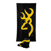 Browning Buckmark Beach Towel, Black with Gold Logo