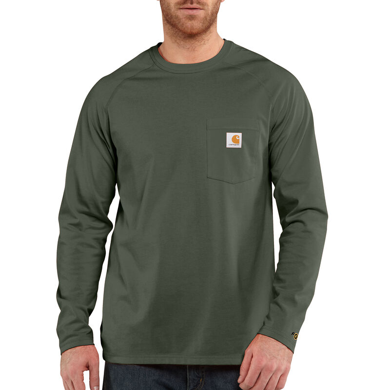 Carhartt Men's Force Cotton Delmont Long-Sleeve T-Shirt image number 6