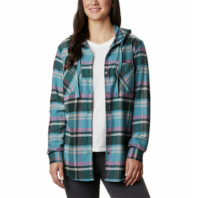 Columbia Women's Anytime Stretch Hooded Long-Sleeve Shirt