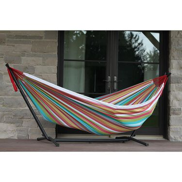 Vivere Double Hammock with 9' Stand Combo
