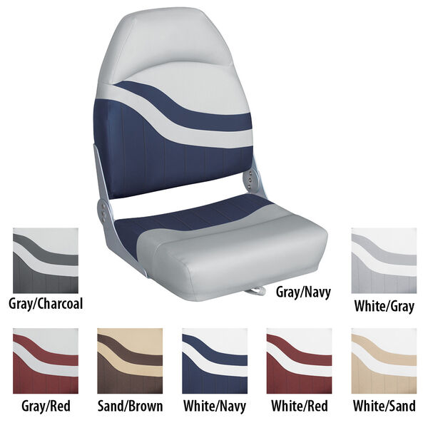 Wise Weekender Series Fish 'N Ski Boat High-Back Fold-Down Seat
