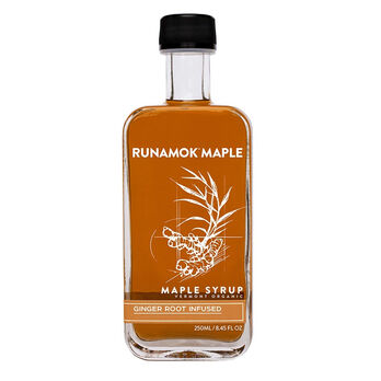 RUNAMOK Ginger Root Infused Organic Maple Syrup 250ml