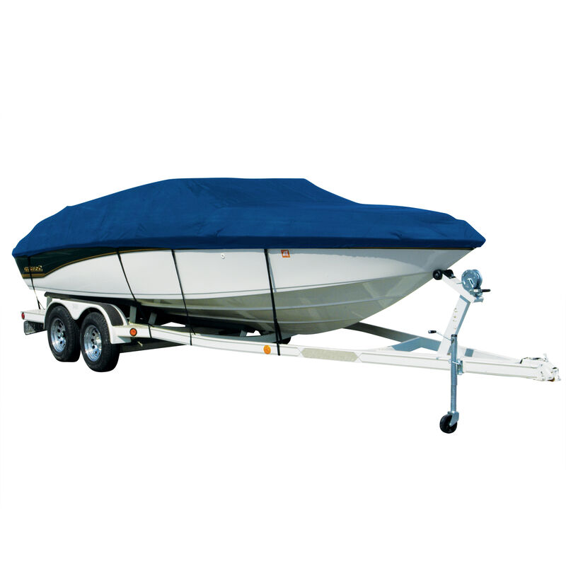 Exact Fit Covermate Sharkskin Boat Cover For TAHOE Q3 w/MOTOR GUIDE TROLL MOTOR image number 3
