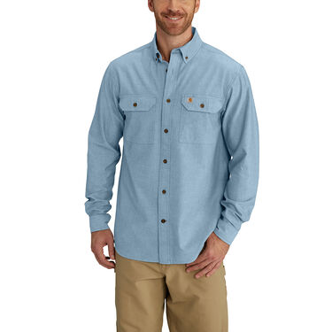 Carhartt Men's Fort Solid Chambray Long-Sleeve Shirt
