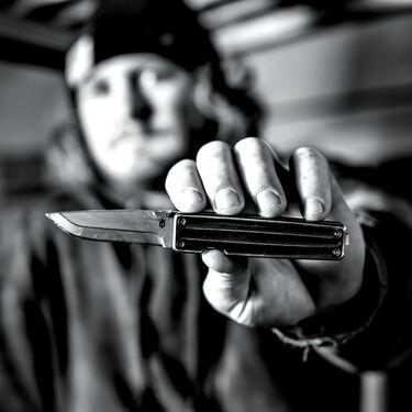 Gerber Pocket Square Aluminum Handle Folding Knife