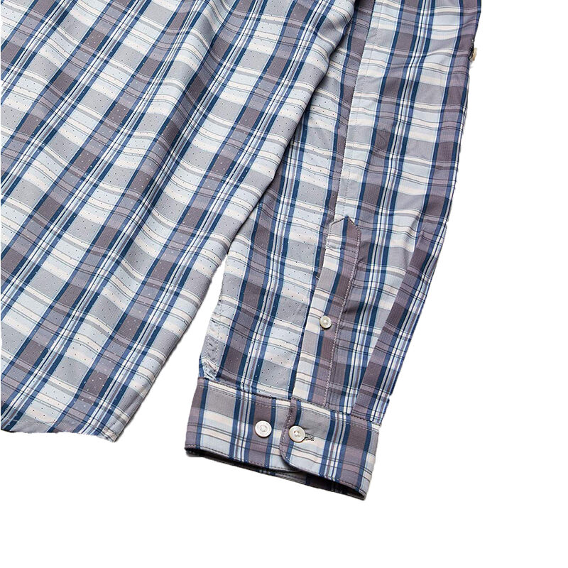 Huk Men's Tide Point Woven Plaid Long Sleeve image number 6