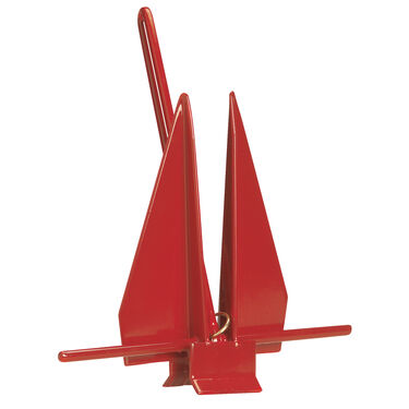 Greenfield Coated American Yachting Fluke-Style #13 Anchor, for boats up to 33'