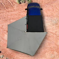 Overland Vehicle Systems Nomadic 270 LT Awning with Wall 1, 2, and Mounting Brackets, Driver Side, Dark Gray