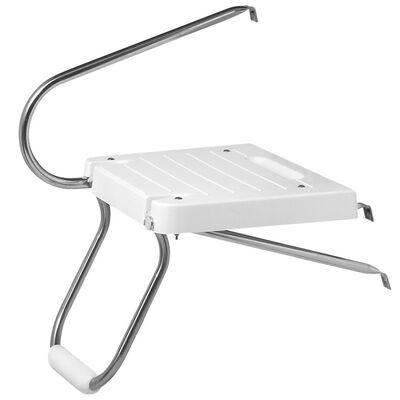 DetMar Outboard Swim Platform With Single Step, ivory