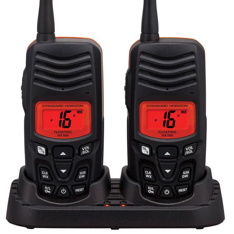 Standard Horizon HX100 Floating Handheld VHF Radio Two-Pack image number 1
