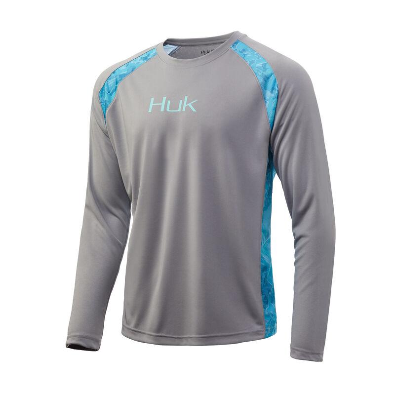 HUK Men's Strike Solid Long-Sleeve Tee image number 1
