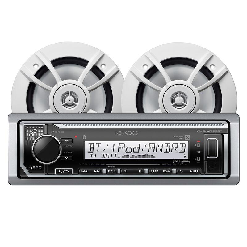"Kenwood KMR-M322BT Bluetooth Media Receiver Package w/2 6.5"" Two-Way Speakers image number 1"