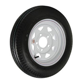 Kenda Loadstar 5.30 x 12 Bias Trailer Tire w/5-Lug White Spoke Rim
