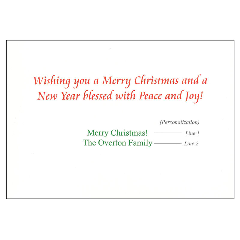 Personalized Lakeside Christmas Christmas Cards image number 2