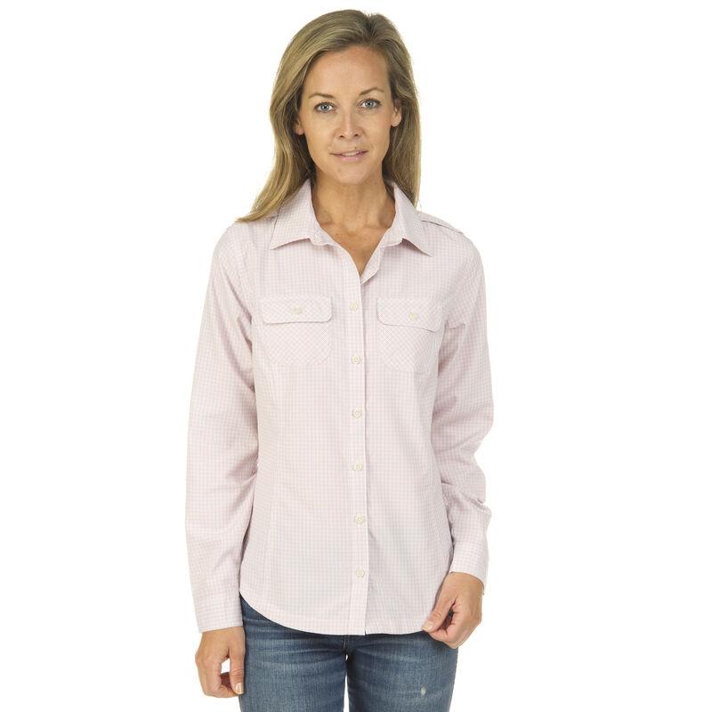 Ultimate Terrain Women's Trailhead Bug Repel Long-Sleeve Plaid Shirt image number 2