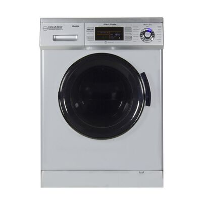 Equator Combo Washer/Dryer, Silver (Vented/Ventless) with Winterize and Quiet Feature, EZ 4400N SILVER