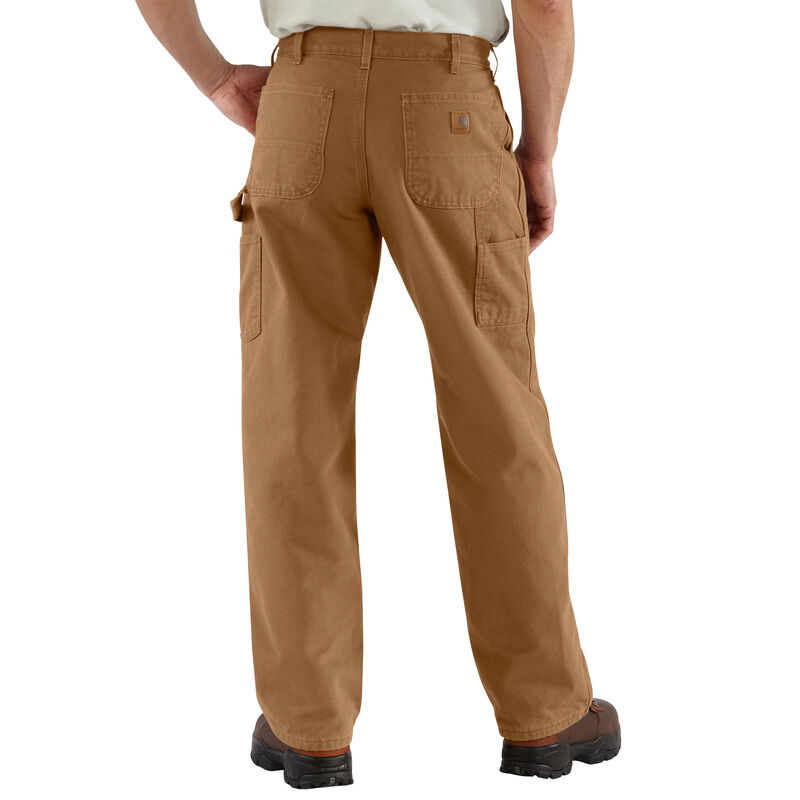 Carhartt Men's Washed Duck Flannel-Lined Dungaree Pant image number 6