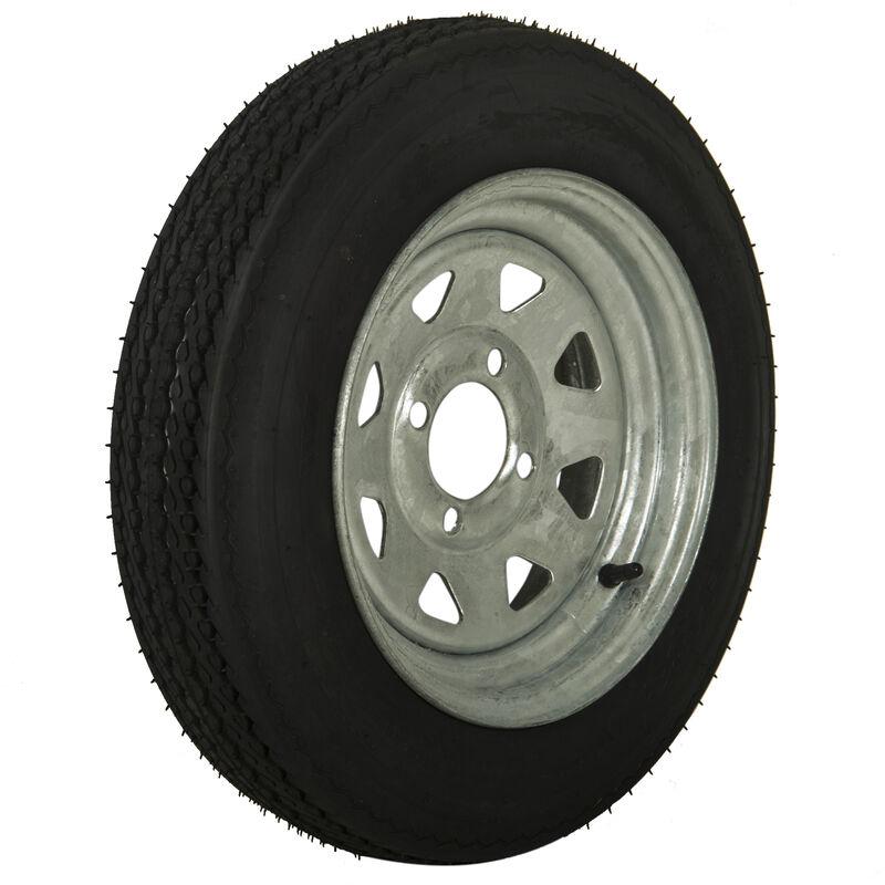 Tredit H188 4.80 x 12 Bias Trailer Tire, 4-Lug Spoke Galvanized Rim image number 1