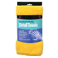 Super Absorbent Microfiber Detail Towels, 2-pack