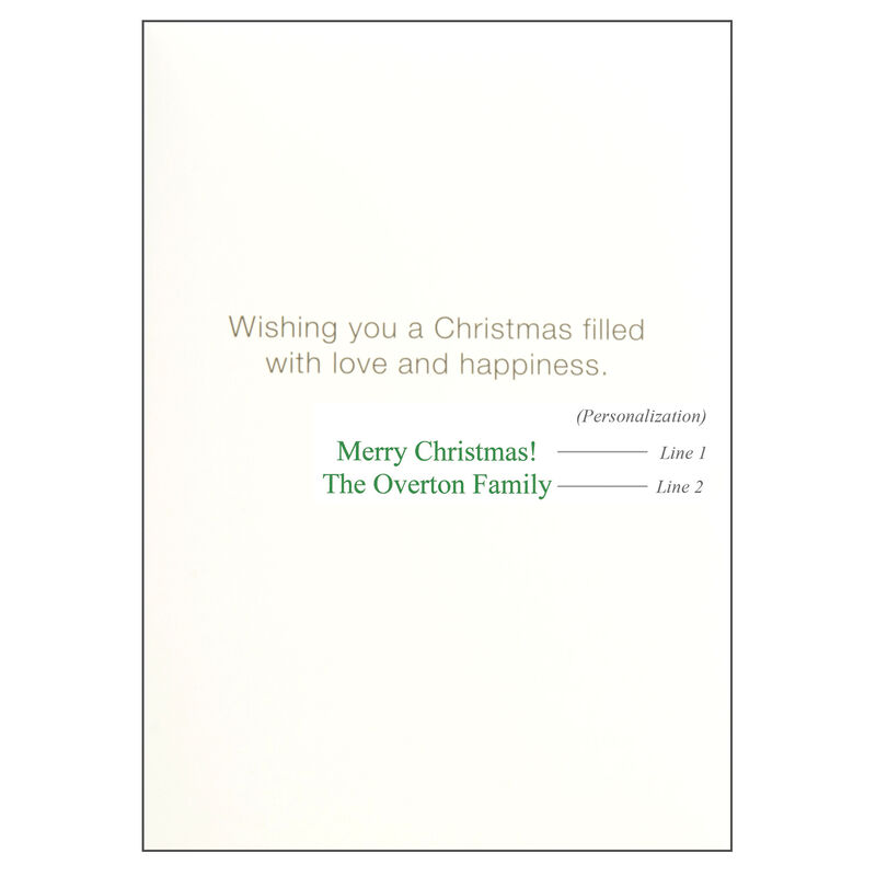 Personalized Christmas Wreath Rope Christmas Cards image number 2