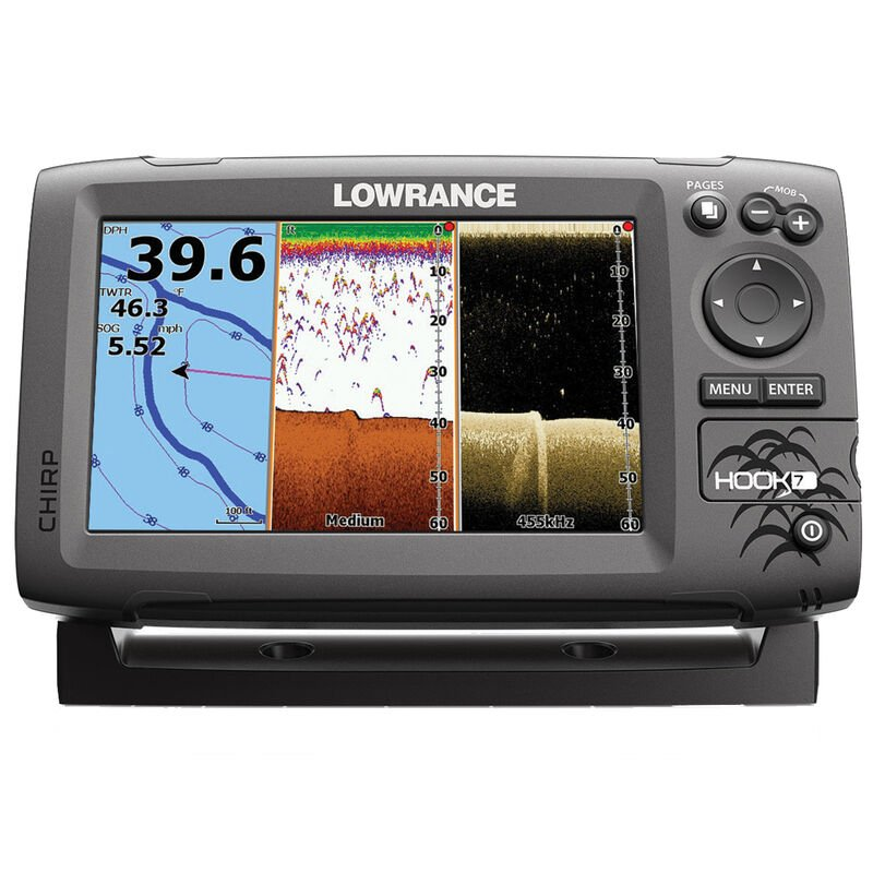 Lowrance HOOK-7 CHIRP DSI Fishfinder Chartplotter With Lake Insight Cartography image number 1