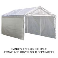 """10X20 Canopy Enclosure Kit, For 2"""" Frame"""
