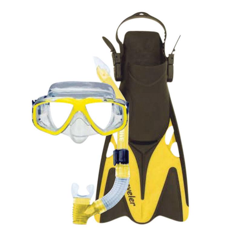 Oceanways Traveler Fin and Caribbean Mask/Snorkel Combo image number 2