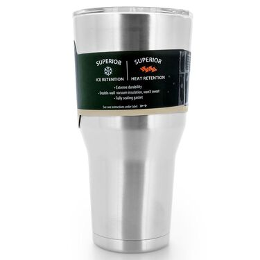 Camco Caribou 30-Oz. Vacuum-Insulated Stainless Steel Tumbler