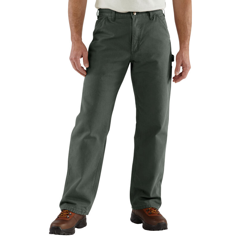 Carhartt Men's Washed Duck Flannel-Lined Dungaree Pant image number 4
