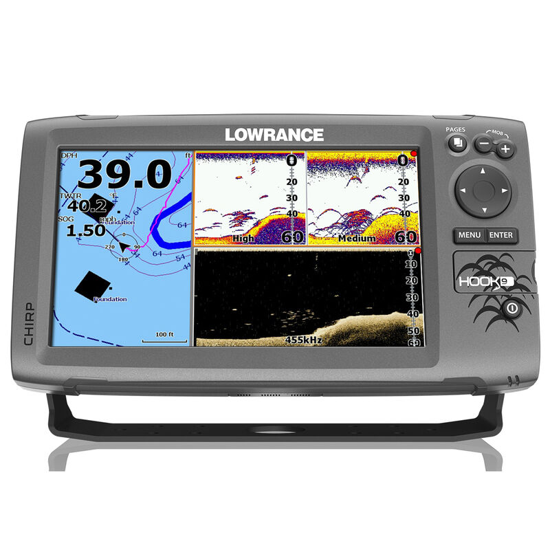 Lowrance HOOK-9 CHIRP DSI Fishfinder Chartplotter w/C-MAP Charts image number 1