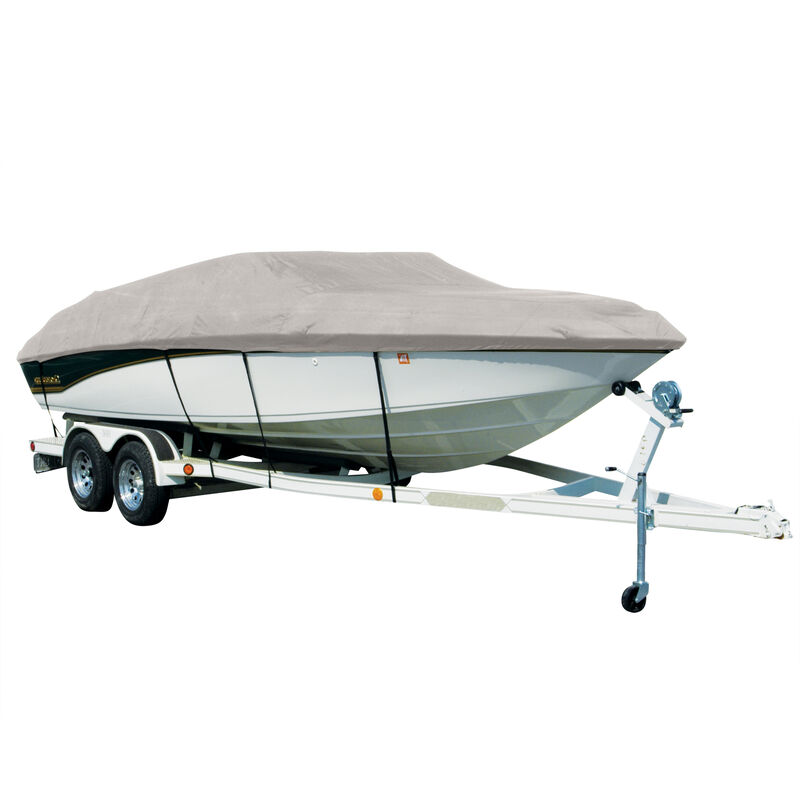 Covermate Sharkskin Plus Exact-Fit Cover for Seaswirl Striper 2120 Striper 2120 Cuddy Soft Top With Pulpit I/O image number 9