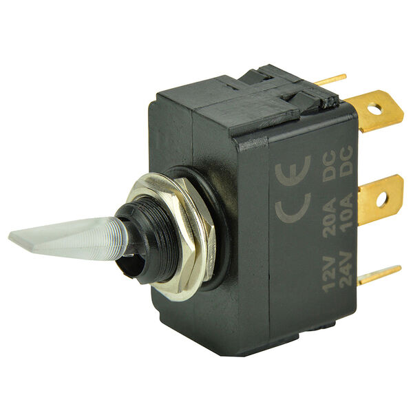 BEP SPDT Lighted Toggle Switch, On/Off/On